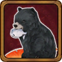 野生の黒熊